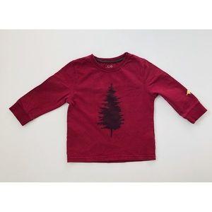 10/$30 JOE FRESH 2T Red Long Sleeve Tee Tree Bird